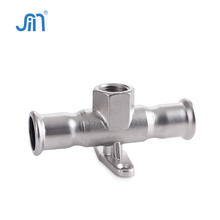 Wall plate stainless steel tee joint pipe tube pipe fittings