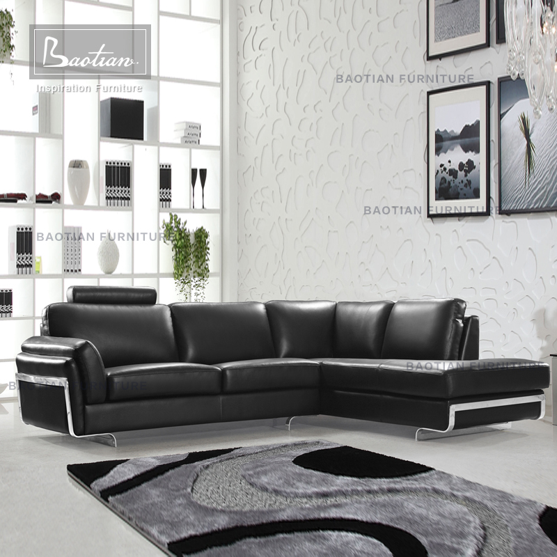modern fashionable leather lounge suite 0815 for european style