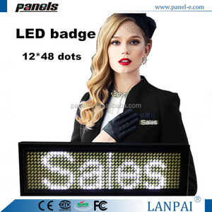 Factory-Made Rechargeable Led scrolling Message Board, Multi-Color Led name Badge/ Tag