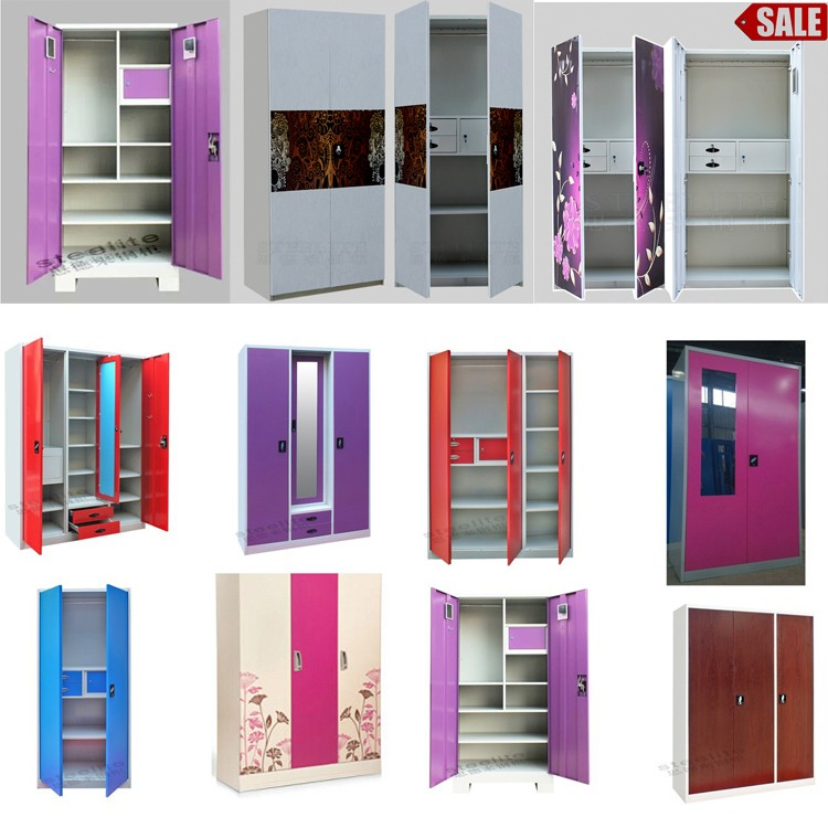 Bedroom Steel Or Iron Almirah Cupboard Designs Indian ...