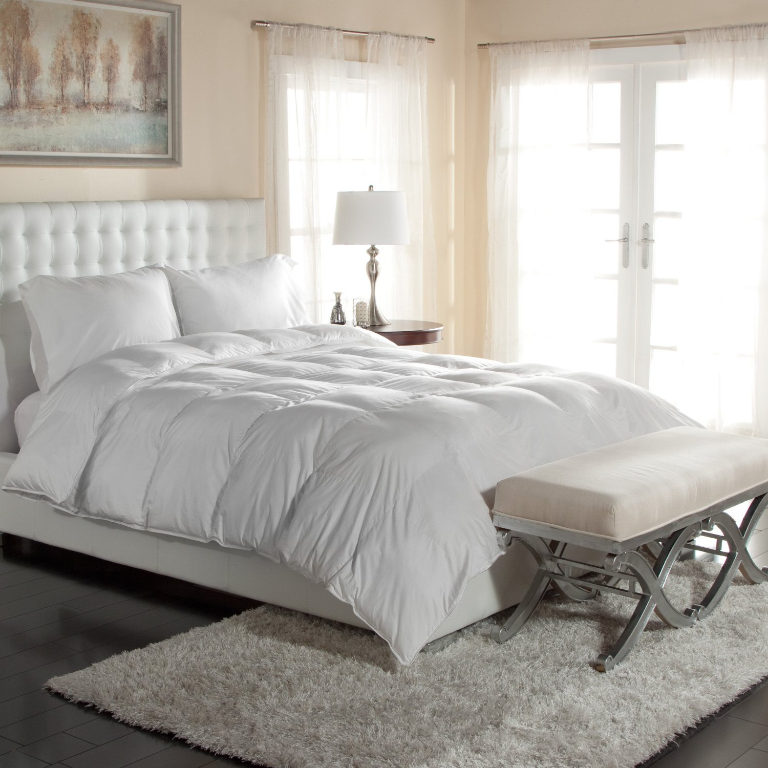 Luxury Silky Cotton Sa Oversized Primaloft Comforter 400 Tc Pima Hypoallergenic Down Alternative