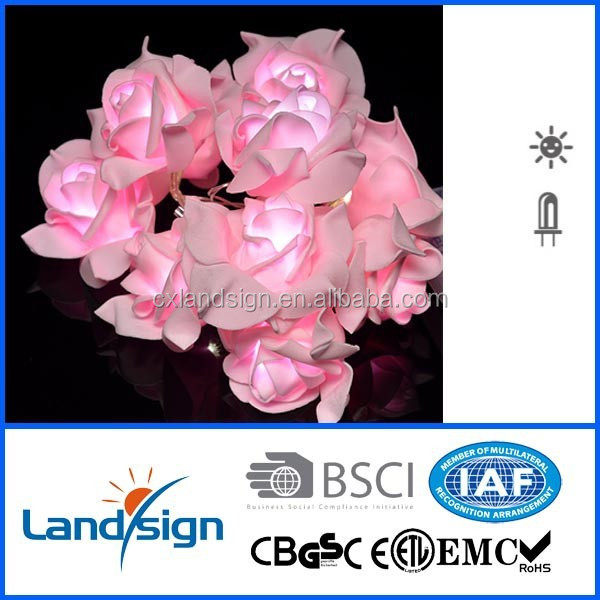 cixi landsign with CE,ROHS certificated XLTD--127 EVA material Solar LED String Lights