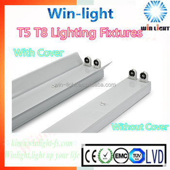 2ft 3ft 2 Lamp T8 Fixture No Ballast, 4ft 5ft T5 T8 2 Lamp T8