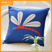 Fashion printing sofa car decorative baby head shaping pillow square linen cushion cover