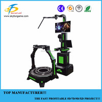 Virtual reality shooting game 9d vr treadmill equipment vr walker for sale