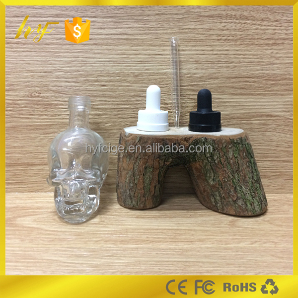 New style dropper glass bottle 50ml e liquid skeleton glass bottle with childproof cap and glass piette