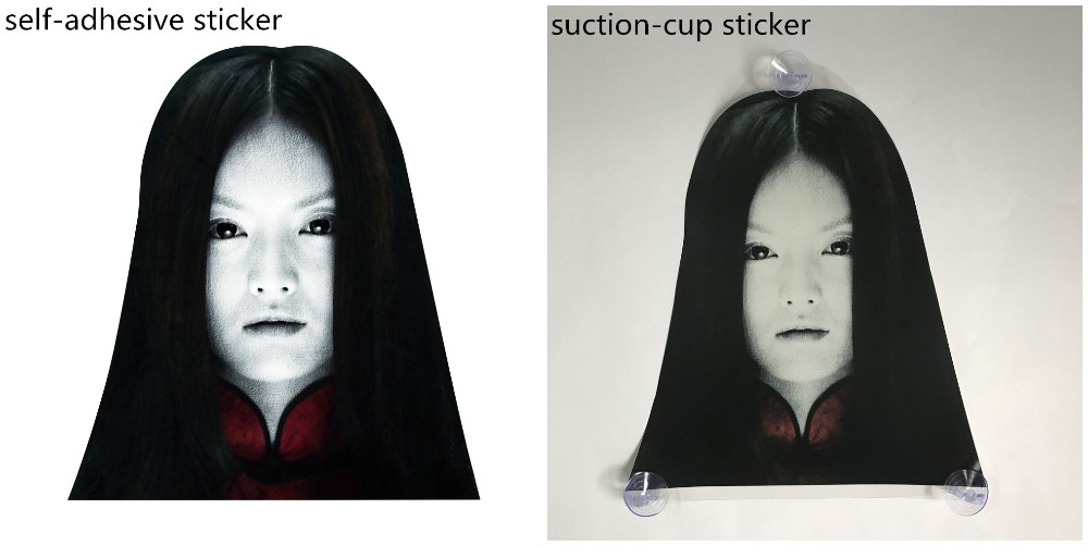Wholesale uv protection sticker decals self-adhesive ghost graphic print removable vinyl Car Stickers reflective 3m car skin