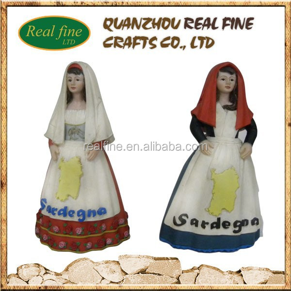 2015 Newly italy resin girl statue items