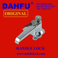 Top quality aluminum DAHFU zinc door handle lock brass lever handle lock