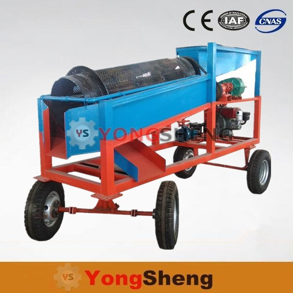 Small scale china gold mining diesel engine gold trommel