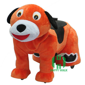 High quality motorized animal scooters coin operated plush animal electric scooter