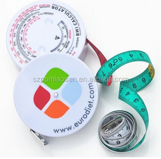 Retail Plastic Keep Healthy Bmi Calculator Measuring Tape