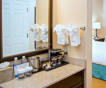 Yellow G682 Granite Bathroom Vanity Top for Double Tree Hotel in Modesto CA