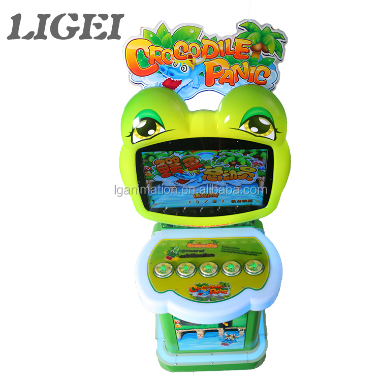 LIGEI Indoor amusement video games kids Crocodile Panic beating game machine for sale
