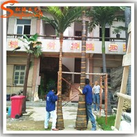 China artificial palm trees wholesale fake plastic coconut tree climbing outdoor palm trees