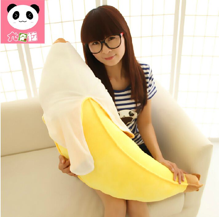 New Arrival Kawaii Cute Soft Banana Pillow Plush Anime Banana Stuffed Toys Baby Toy Kid Toy New Year Gift Kid gift