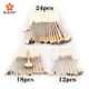 12/18/24pcs champagne color makeup tools set makeup brush synthetic