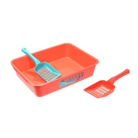 Top Seller Eco-Friendly Plastic Pet Cleaning Set Cat Litter Box With Scoop