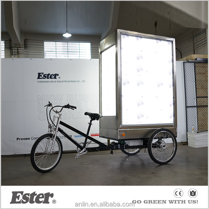 3 wheels bike advertisement/mobile advertising bicycle/billboard advertising trike