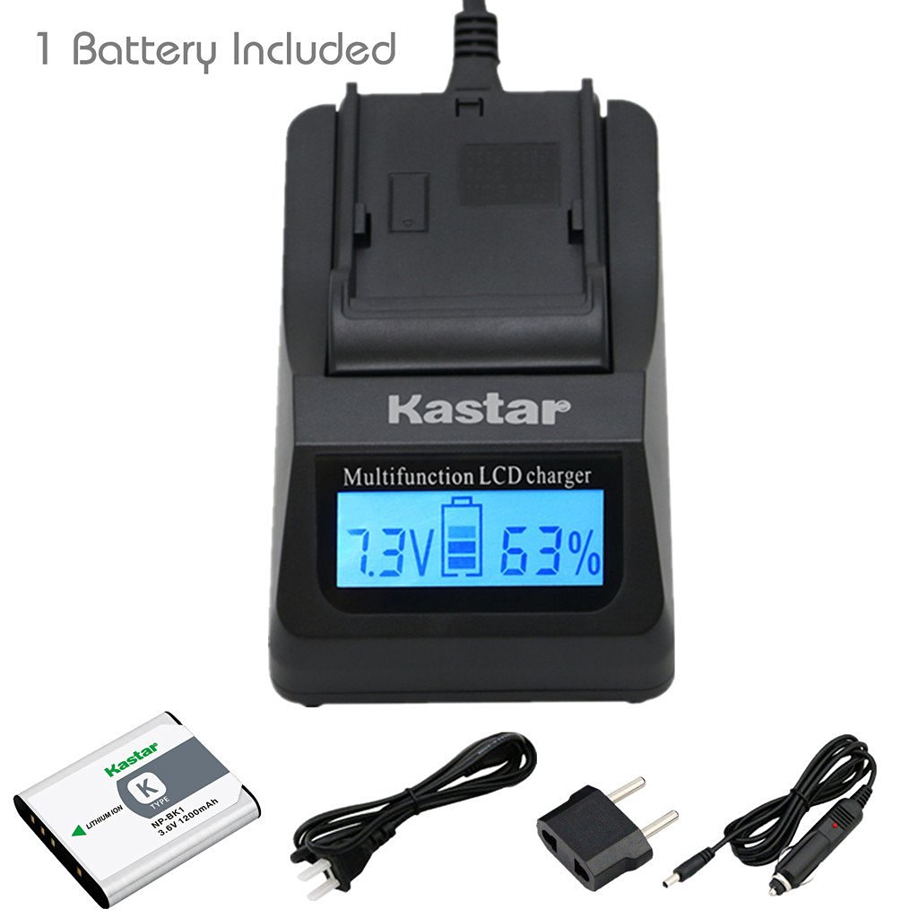 Kastar Ultra Fast Charger Kit and Battery (1-Pack) for Sony NP-BK1, BC-CSK work with Sony Bloggie MHS-CM5, MHS-PM5, Cyber-shot DSC-S750, DSC-S780, DSC-S950, DSC-S980, DSC-W180, DSC-W190, DSC-W370, Webbie MHS-PM1 Cameras [Over 3x faster than a normal charger with portable USB charge function]