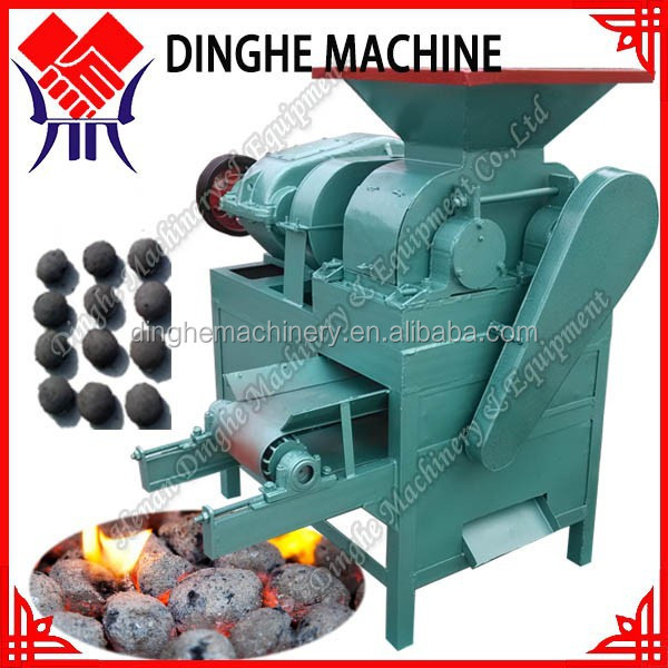 China coal charcoal dust powder briquette press making / briquetting machine / for wood sawdust / coconut shell supplier