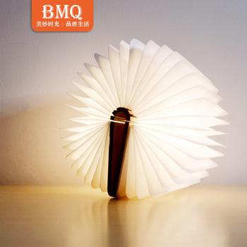 Impermeable Dupont Papier Pliant En Bois Mini Lampe De Livre Led