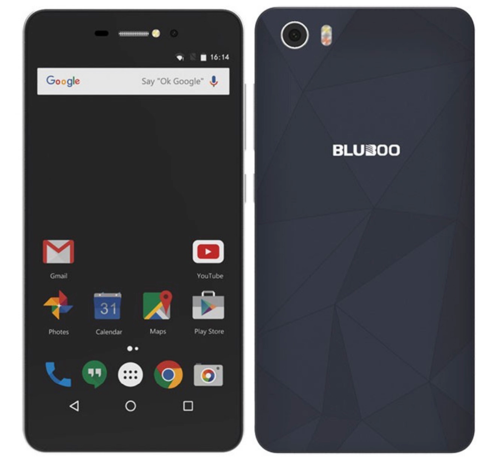 Wholesale 5.0inch Bluboo Picasso MTK6580 Quad Core Smartphone 2GB Ram 16GB Rom WCDMA Mobile Phone 8MP+8MP