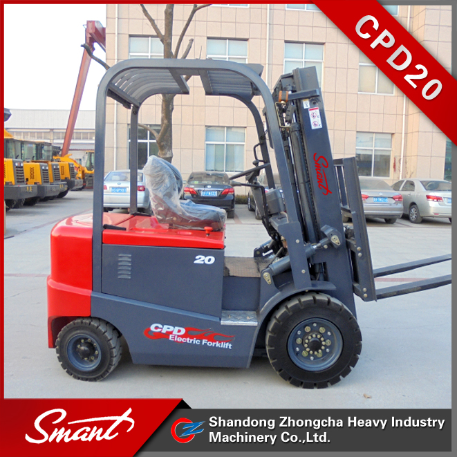 2000kg electric counterbalance forklift truck price with battery made in China for sale