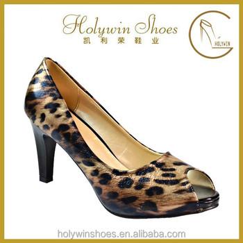 free sample women open toe shoes animal fur open toe lady high heel shoes - Free Sample Shoes