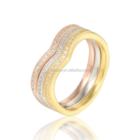 Handmade Gold Plated 3 Layers Value 925 Silver Ring