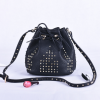 Wholesale pu rivet bucket bag womens shoulder bag