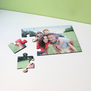 Different shape sublimation wood mdf puzzle, custom jigsaw puzzles
