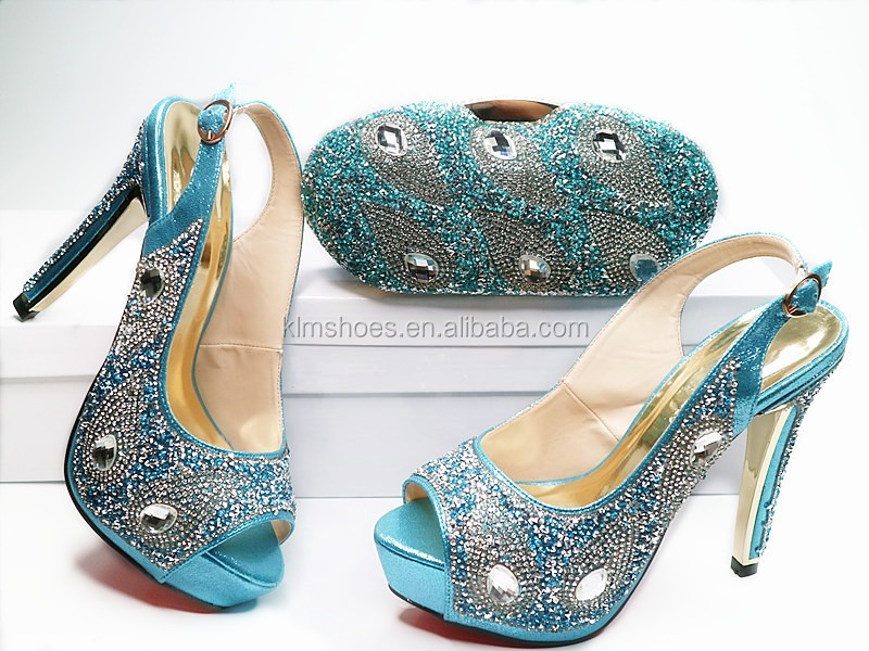 816cbb00b63145 ... Party Bag Lady Design Sandal Matching 1 And With Class High Shoes  African Italian Sets Fashion ...