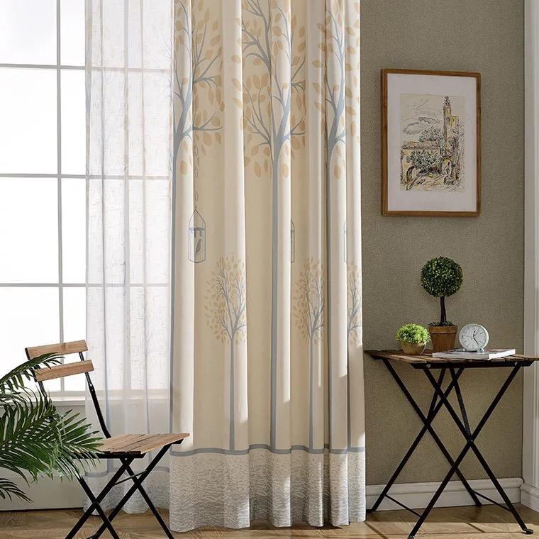 Personalizable patrón hangzhou niñas dormitorio cortinas cortina en stock