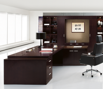 High Class Office Furniture MDF Veneer Classic Durable Executive Desk Office  Furniture