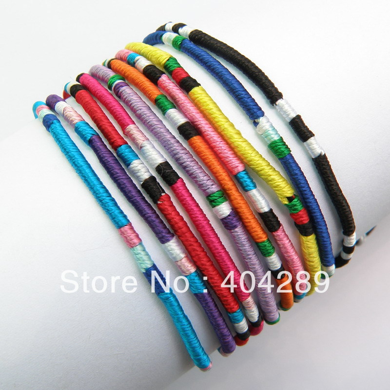 Wholesale 120pcs Mixed color Macrame Silk Handmade ...