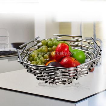 fashion bird nest new product metal wire fruit basket
