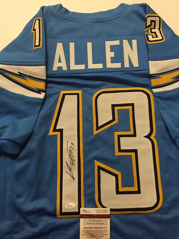 f18c125d7dc Get Quotations · Autographed/Signed Keenan Allen Los Angeles LA Chargers  Powder Blue Football Jersey JSA COA