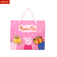 Personalized cartoon peppa paper bag child gift paper bag