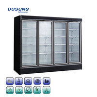 Factory Customized Size Glass Door Air Curtain Meat Dry Aging Fridge Refrigerator