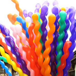 Screw Twisted Latex Balloons Spiral Long Balloon Wedding Birthday Party Decoration Strip Shape Balloon