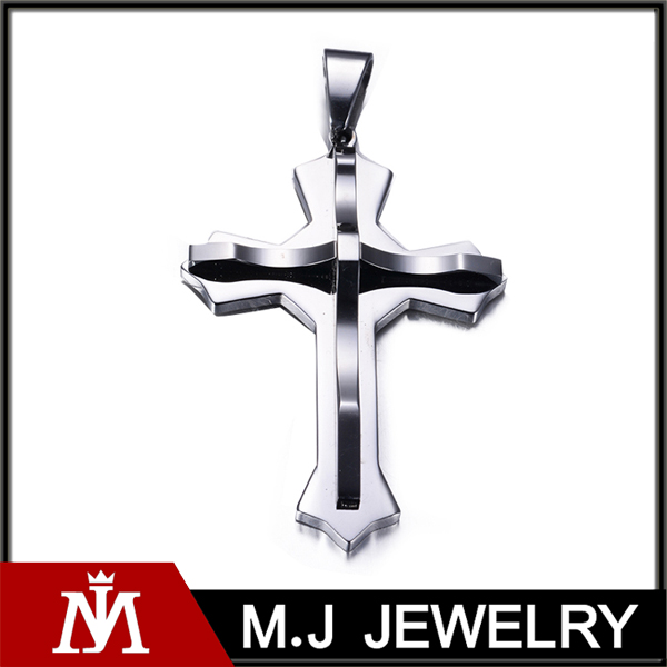 Steel Color Hip Hop Boy's Gift Cross Pendant