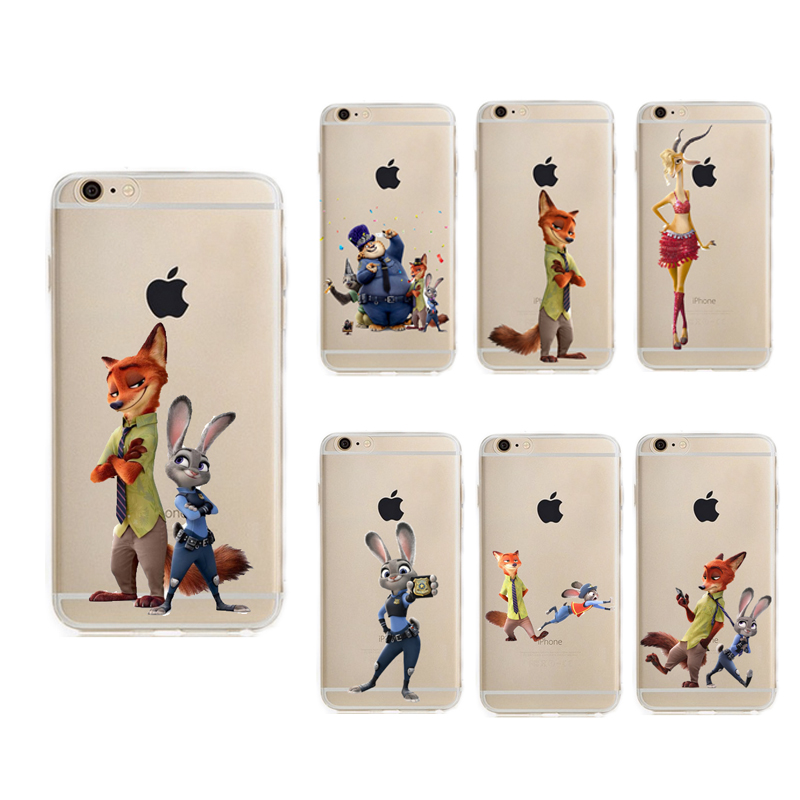 a52db9e7d1 Cute Zootopia Case for Apple iphone 6 6s or 6 plus 6s plus Soft TPU Fundas
