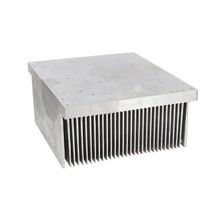 OEM 6061 customized high power large aluminum extrusion skiving machine heat sink