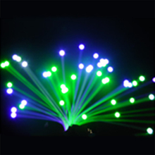 LED fiber optic illumination for hotel, restaurant, coffee house end light fiber