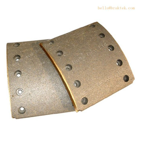 Chinese truck parts , drum brake lining , high temperature resistant