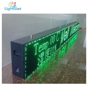 outdoor led word display sign p10 single color text/letter/character