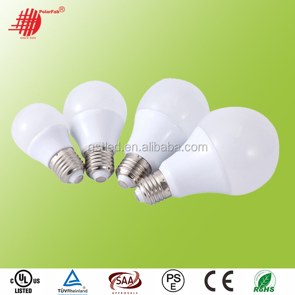 High Lumens 110lm/w 5W E27 B22 LED Lamp Bulb 360 degree LED bulb, A19 A60 led bulb, 3 years Warranty CE RoHS