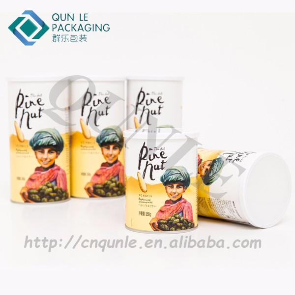 Custom Oatmeal Printed Empty Paper Can for food packing Paper Cylinder Tubes