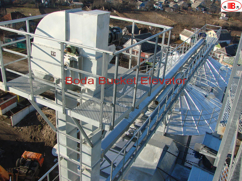 Vertical Bucket Elevator For Material Handling/auxiliary facilities of silos